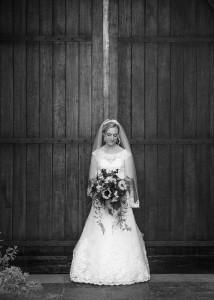 Bride waiting in Villa Del Sol, Fullerton CA