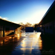 Rainy Morning at School